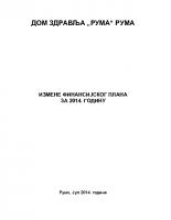 Izmene finansijskog plana za 2014.