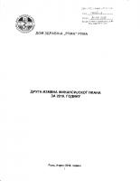 Izmene i dopune Finansijskog plana za 2016. – II izmena