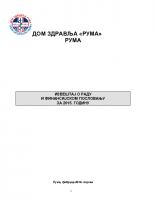 Izveštaj o radu i finansijskom poslovanju za 2015. godinu